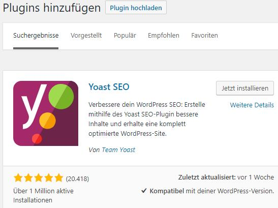 Wordpress-Plugin Yoast
